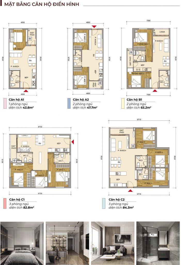 các loại căn hộ Tecco Felice HOmes